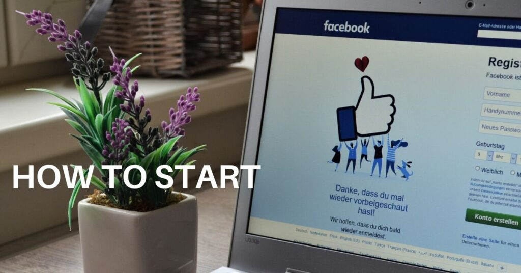 How to start facebook