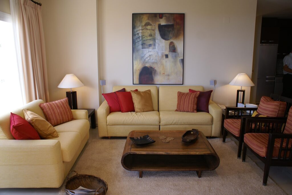 Furniture in a living room