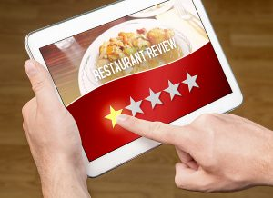 Bad restaurant review.