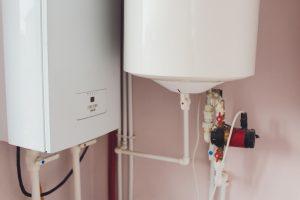 Hot water thermal storage tank.