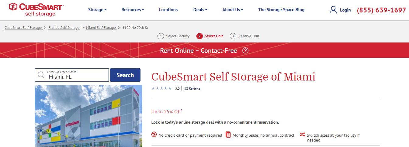 cubesmart self storage in miami