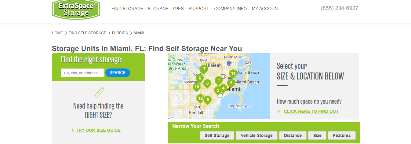 extra storage space in miami