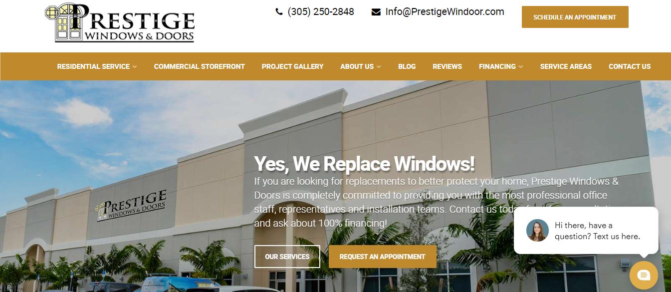 prestige windows and doors in miami