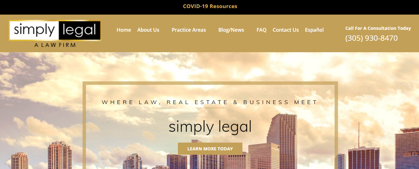 simply legal corporate lawyers in miami