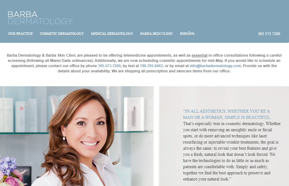 Barbra Dermatology Clinic in Miami