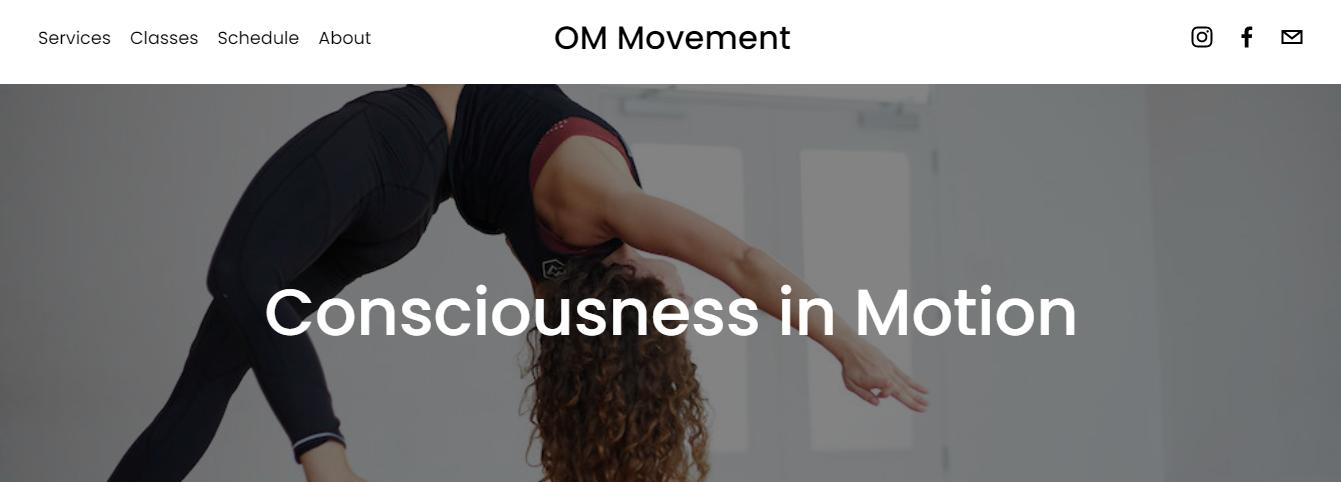 OM Movement Yoga Studio in Miami