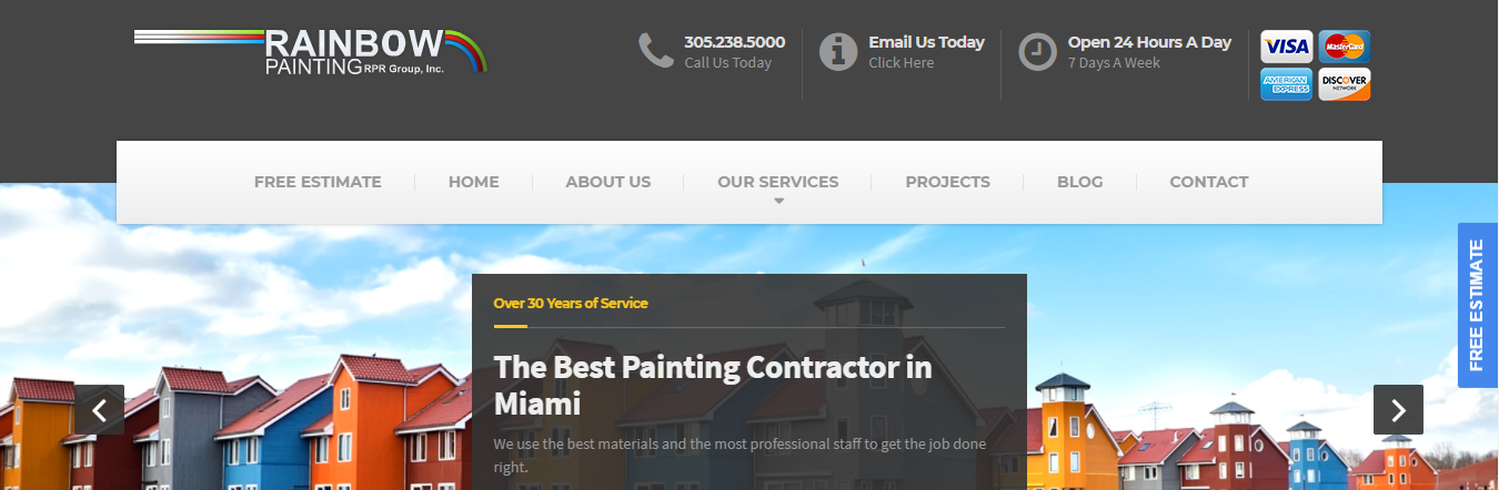 Rainbow Painting Services in Miami