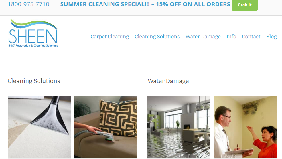 Sheen carpet cleaning services in Miami