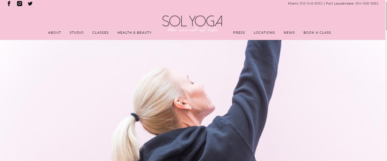 Sol Yoga Studio in Miami