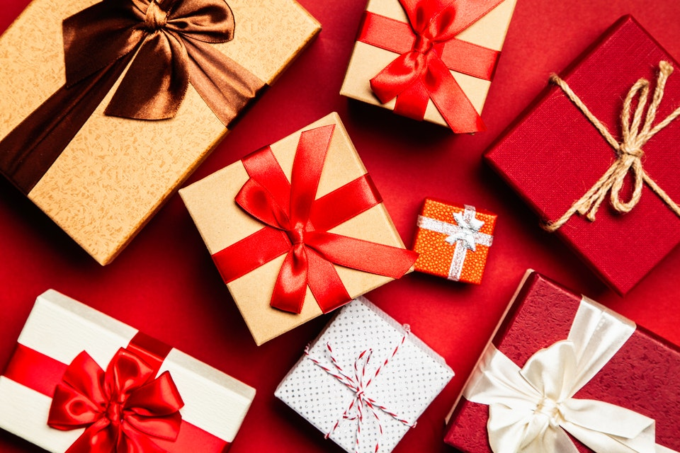 A collection of gifts from online shopping deals.