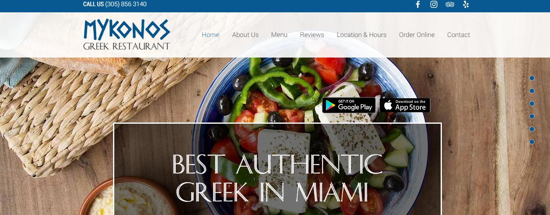 Mykonos Greek Restaurant in Miami