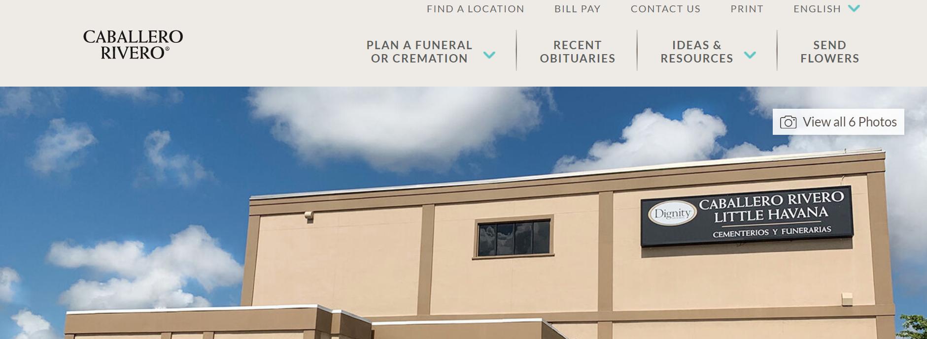Caballero Rivero Funeral Homes in Miami