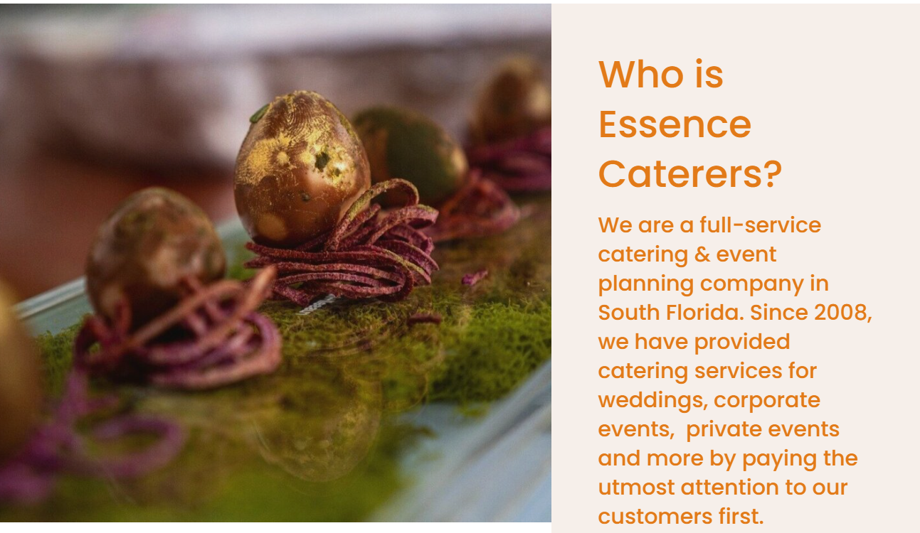 Essence Caterers in Miami