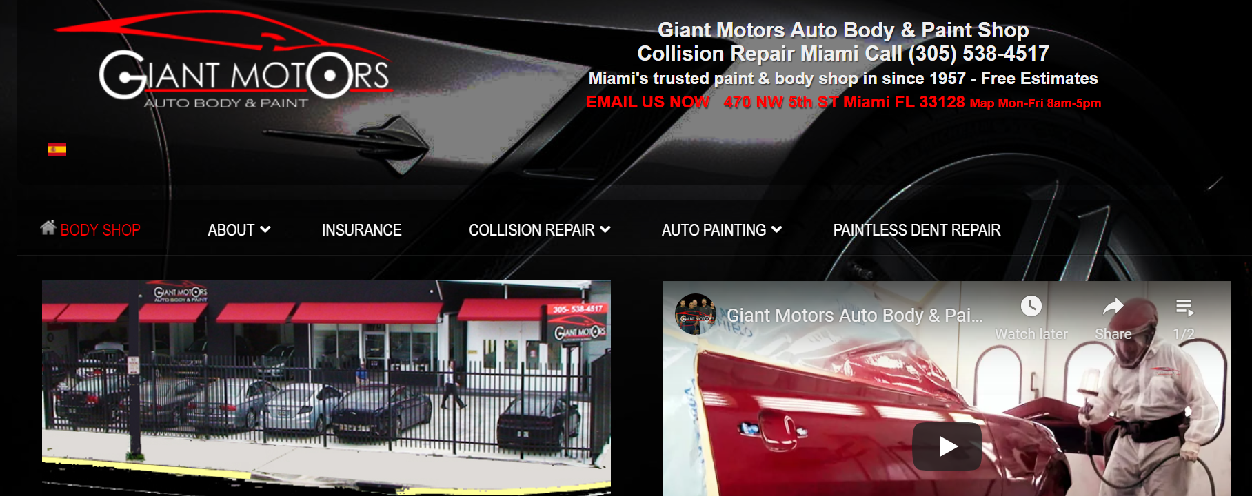 Giant Motor Auto Body and Paint in Miami
