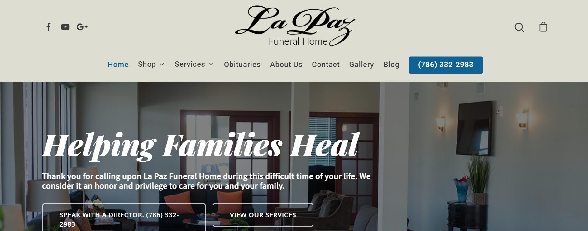 La Paz Funeral Homes in Miami