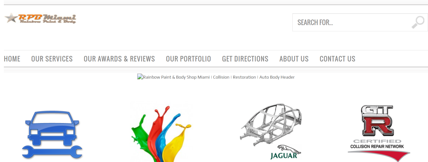 Rainbow Paint and Auto Body Shop in Miami
