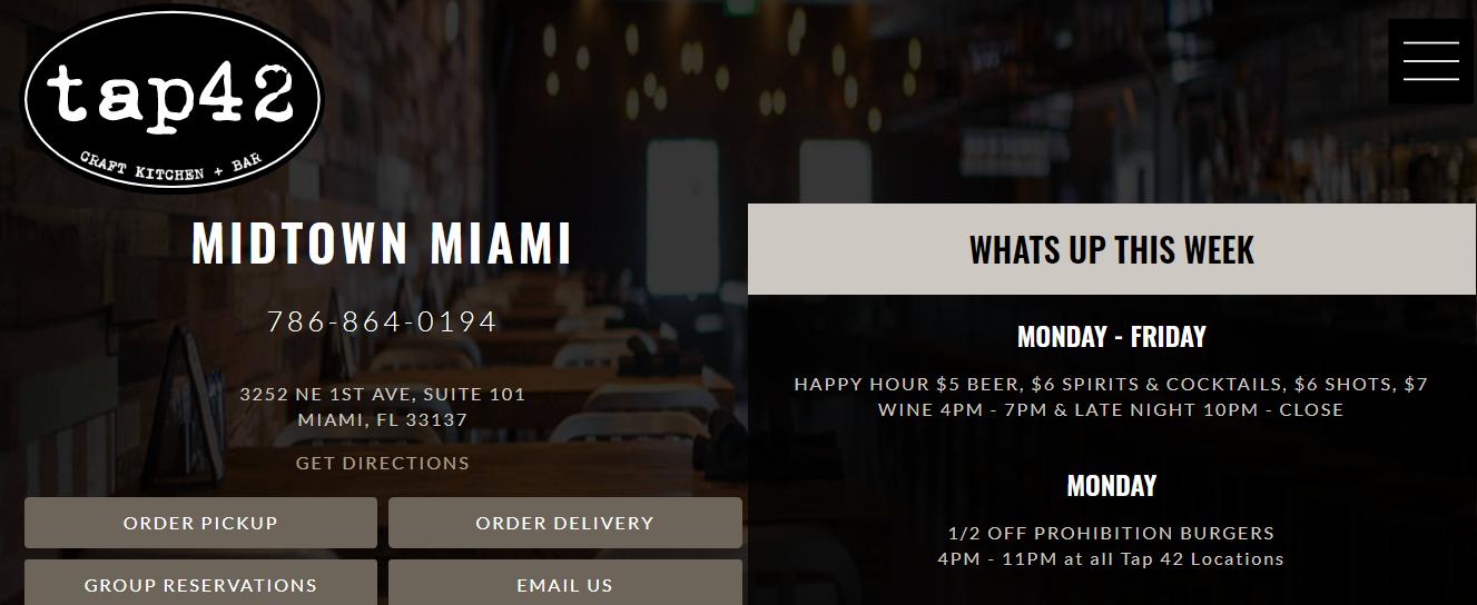 Tap42 Bar in Miami