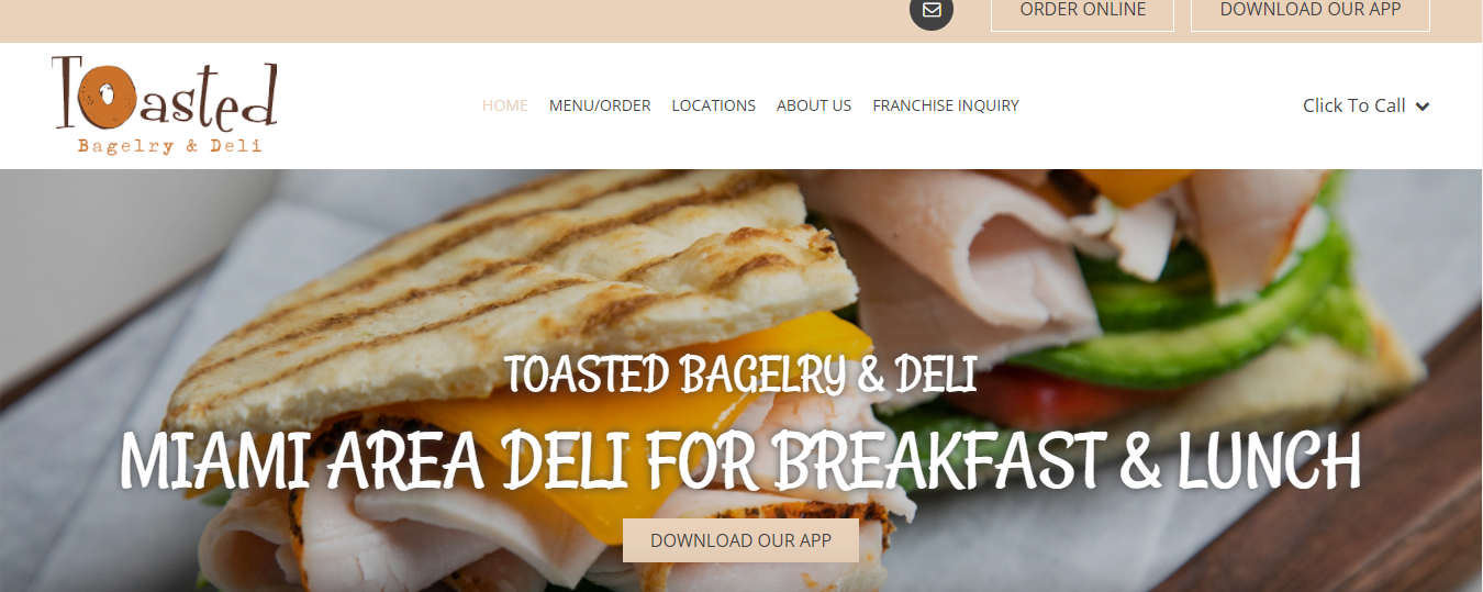 Toasted Bagelry and Deli in Miami