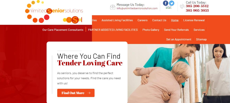 Unlimited Senior Solutions Care Home in Miami